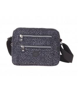 Lorenz Top Zip Cross-Body Crinkled Nylon Bag