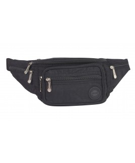 Lorenz Nylon Bumbag with 6 Zip Pockets