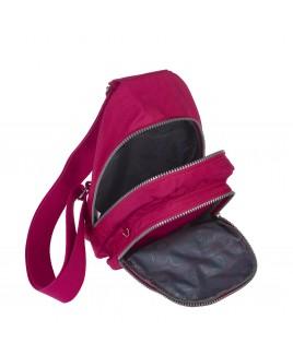 Lorenz  Nylon X-Body Backpack with 4 Zip Pockets