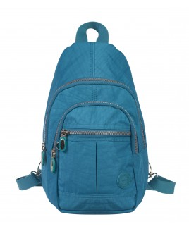Lorenz  Nylon Backpack with 4 Zip Pockets