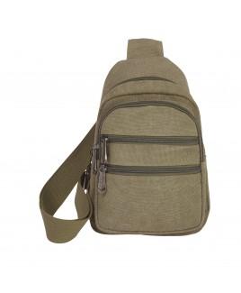 Lorenz Unisex Canvas Backpack with 4 Zips