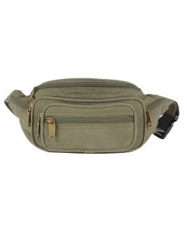 Lorenz Multi Zip Canvas Bumbag