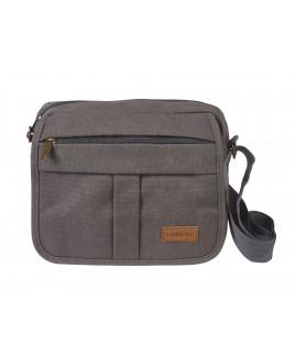 Lorenz Unisex X-Body Top Zip Canvas Bag with Front Flap & 3 Zip Pockets