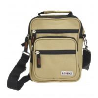 Lorenz Polyester Unisex Bag with 5 Zips & Belt Loop