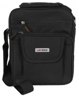 Lorenz Across-Body Top Zip Polyester Unisex Bag