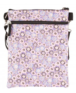 Lorenz Medium Across-Body Patterned Polyester Top Zip Bag with Quilted Stitch
