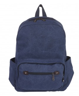 Lorenz Canvas Backpack with 3 Zips & 2 Side Pockets -PRICE DROP !