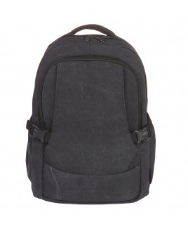 Lorenz Canvas Backpack with 2 Zips, 2 Side Pockets & Pouch Pocket -PRICE DROP !