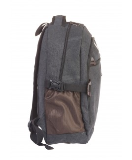 Lorenz Canvas Backpack with 4 Zips, 2 Side Pockets and Carry Handle -PRICE DROP !