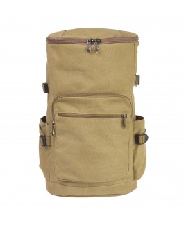 Lorenz Large Camper Canvas Backpack with 3 Zips, 2 Side Pockets -PRICE DROP !