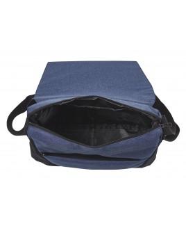 Modernist X-Body Flapover Messenger Bag with Top Zip