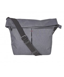 Modernist Large X-Body Top Zip Foldover Bag with Front Zip Pocket and Tablet Sleeve