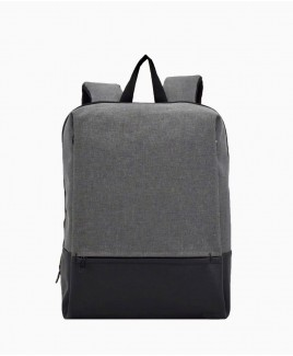 Modernist Fully Zip Round Backpack with Front Zip Pocket & Large Concealed Zip Pockets