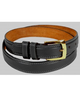 "1"" Milano Leather Grain Belt in XXXL"