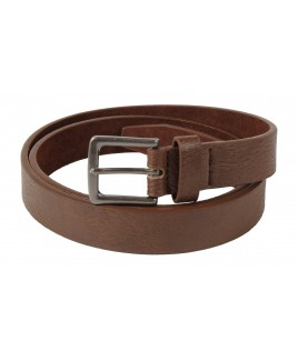 "1"" Leather Grain Belt with Trendy Antique Gun Metal Buckle-PRICE DROP!"