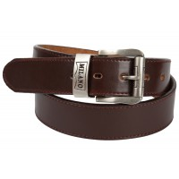 "1.5"" MIlano Belt with Silver Matt Branded Buckle"