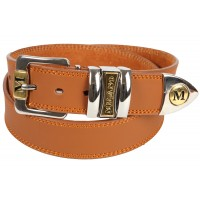 "1.5"" MIlano Jeans Belt with Chrome & Gilt Two Tone Buckle"