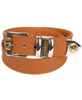 "1.5"" MIlano Jeans Belt with Chrome & Gilt Two Tone Buckle -PRICE DROP !"