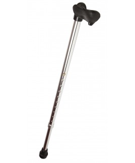 Silver Shaft Walking Stick with Moulded Handle (Right or Left Handed)
