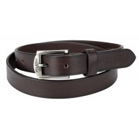"Milano 1"" Full Leather Belt in Grained Leather"