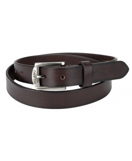 """Milano 1"""" Full Leather Belt in Grained Leather"""