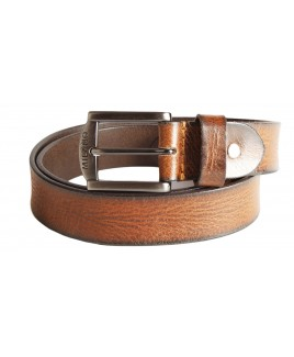"Milano 1.25"" Distrssed Full Leather Belt with Gun Metal Buckle"
