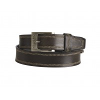 "Milano 1.25"" Full Leather Belt in Quality Distressed Leather with Double Stitching"