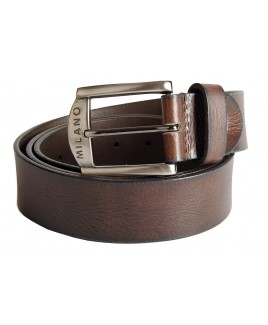 "Milano 1.5"" Distrssed Full Leather Belt with Gun Metal Buckle"