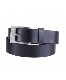 "Milano 1.5"" Full Leather Belt in Smooth Leather"