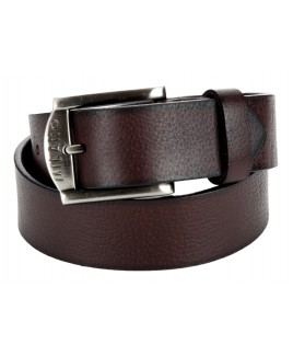 "1.5"" Grained Full Leather Belt with Gun Metal Buckle"