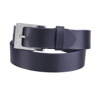 "Milano 1.5"" Full Leather Belt in Smooth Leather with Coloured Edging"
