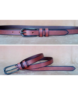 "0.75"" Full Leather Ladies Belt"