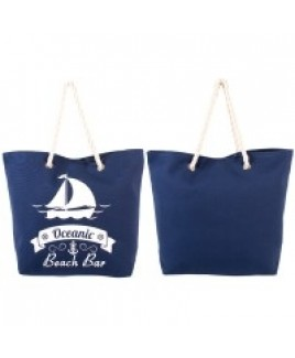 "Canvas Style ""Nautical"" Beach Bag with Rope Handles -SALE PRICE! !"