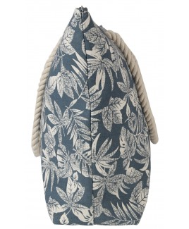 Top Zip Tropical Leaf Pattern Beach Bag with Rope Handles -FURTHER REDUCTIONS! !