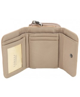 Lorenz Accessories Cowhide Small Zip Round RFID Proof Purse Wallet with Back Pass Pocket- NEW LOW PRICE!!