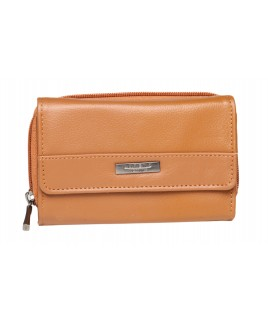 Lorenz Accessories Cowhide RFID Protected Zip Round Purse- Price Drop !