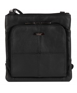 Lorenz Cow Hide X-Body Bag with Top Zip & Front Zip Round Pocket-PRICE DROP!