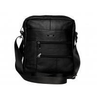 Lorenz Cow Hide Unisex Cross-Body Bag with 3 Zips & 2 Pockets