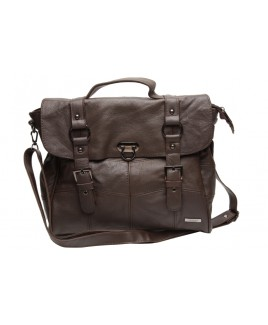 Lorenz Cow Hide Flapover Bag with Top Handle & Shoulder Strap - PRICE DROP !