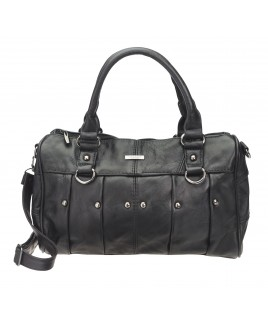 Lorenz Cow Hide Top Zip Handbag with Stud Detail- NEW LOW PRICE!
