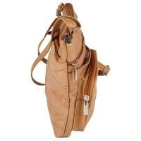 Lorenz Cow Hide Top Zip Cross Body Bag