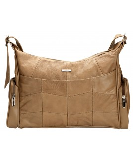 Lorenz Cowhide Twin Zip Tote with Side, Front & Back Pockets-BIG PRICE DROP!