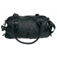 Lorenz Cow Hide Top Zip Handbag with Detachable Strap
