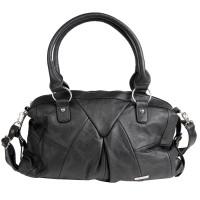 Lorenz Cow Hide Top Zip Handbag with Detachable Strap
