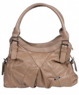 Lorenz Cow Hide Top Zip Shoulder Bag with Inner Zips- BIG PRICE DROP !