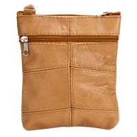 Small Cow Hide Top Zip Bag