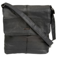 Lorenz Portrait Style Cowhide Unisex Flapover Bag