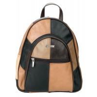 Lorenz Cow Hide Multi Patchwork Fashion Backpack/Shoulder Bag
