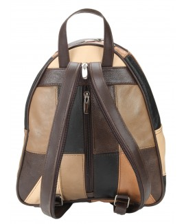Lorenz Cow Hide Multi Patchwork Fashion Backpack/Shoulder Bag