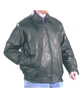 Patch Leather Jacket  with Two Pockets - Massive Reductions!!